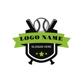 Black Badge and Softball logo design