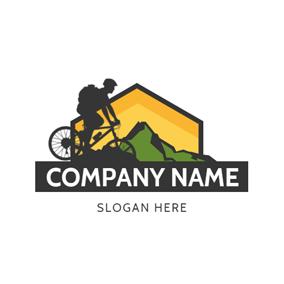 ... Black Bike and Venturer logo design