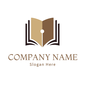 Black Book and Brown Pen Point logo design