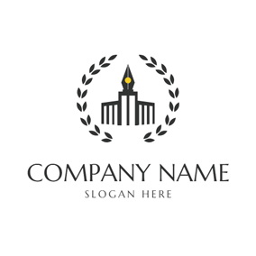 Black Branch and School logo design