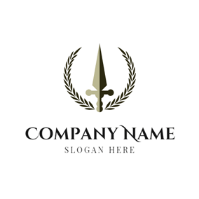 Black Branch and Sword logo design