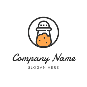 Black Circle and Kitchenware logo design