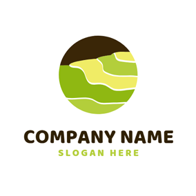 Black Circle and Yellow Paddy logo design