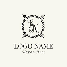 Black Decoration and Abstract Letter logo design