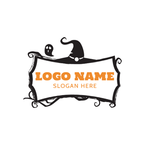 Black Devil and White Banner logo design