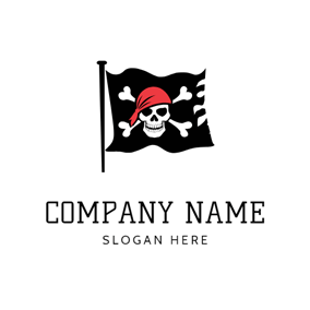 Black Flag and Pirates logo design