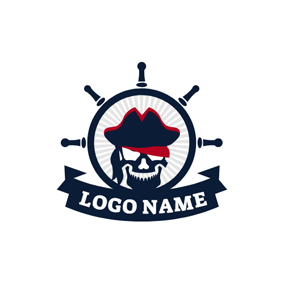 Black Helm and Pirates logo design