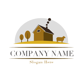 Black House and Brown Bull logo design