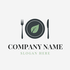 Black Knive and Fork logo design