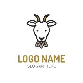 Black Leaf and White Goat logo design