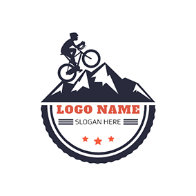 Black Man and Bike logo design