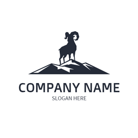 Black Mountain and Goat logo design