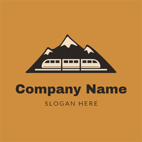 Black Mountain and White Train logo design