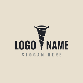 Black Nail and Tool logo design