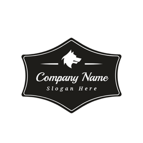Black Polygon and White Wolf logo design