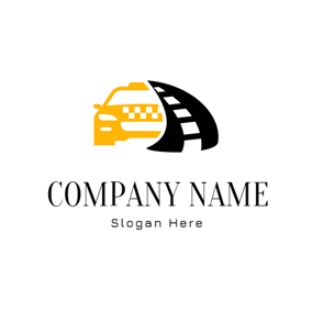 Black Road and Yellow Taxi logo design