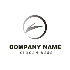 Black Round Car Brand logo design