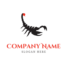 Black Scorpion Icon logo design