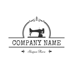 Black Sewing Machine and Craft logo design