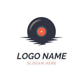 Black Shadow and Disc logo design