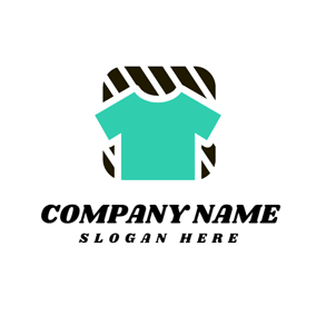 Black Stripe and Green T Shirt logo design