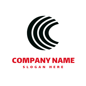 Black Stripe and Network logo design
