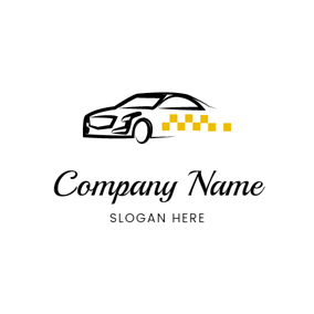 Black Taxi Model logo design