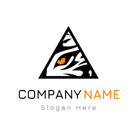 Black Triangle and Brown Eye logo design