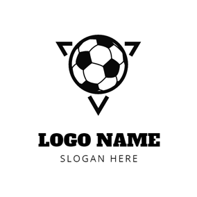 Black Triangle and Soccer logo design