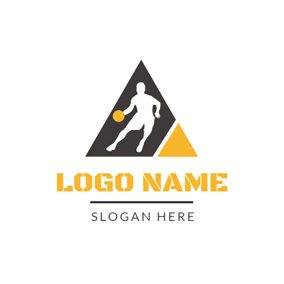 Black Triangle and White Hoopster logo design