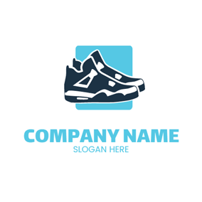 Black White Fashion Sneaker logo design