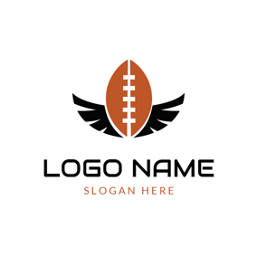 Black Wing and American Football logo design