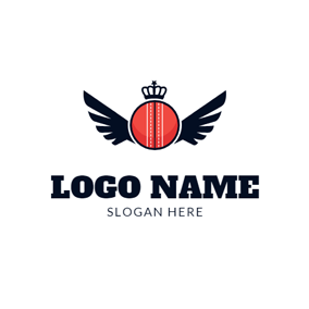 Black Wing and Cricket logo design