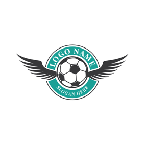 Black Wing and Football logo design