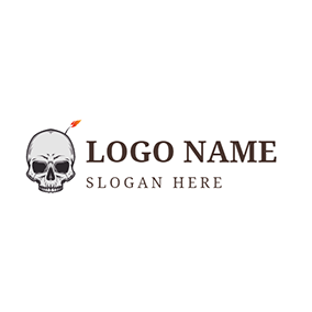 Blasting Fuse and Human Skeleton logo design