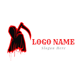 Blood Cloak Reaper Death Dreadful logo design
