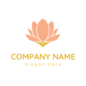 Blooming Pink Lotus logo design