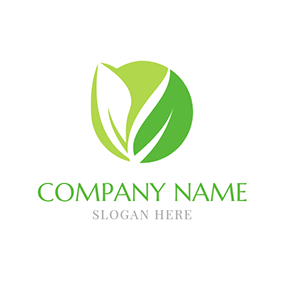 Blue and Green Herbal Medicine logo design