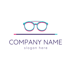 Blue and Red Glasses logo design