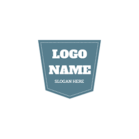 Blue and White Badge logo design
