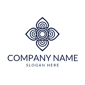 Blue and White Boutique logo design