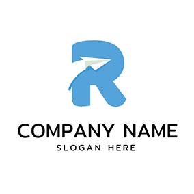 Free r logo designs designevo logo maker abstract black letter r blue and white letter r logo design altavistaventures Gallery