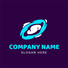 Blue and White Space logo design