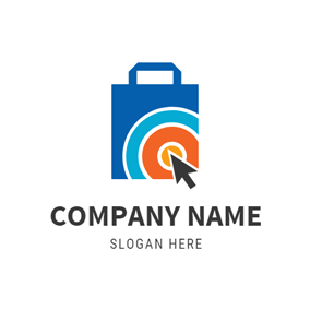 Blue and Yellow Bag logo design