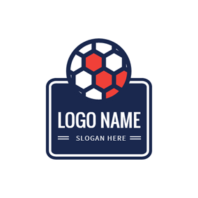 Blue Badge and Handball logo design