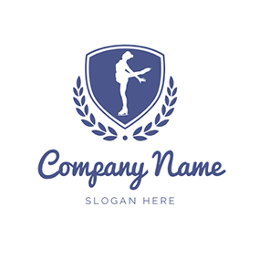 Blue Badge and Skater logo design