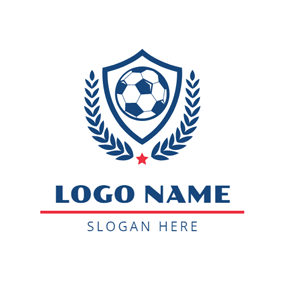 Blue Branch Football Badge logo design