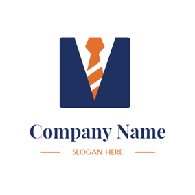 Blue Business Suit and Work logo design