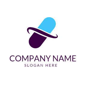 Blue Capsule and Hospital logo design