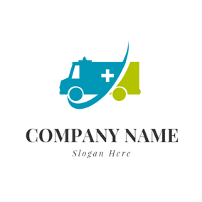 Blue Check and Ambulance logo design